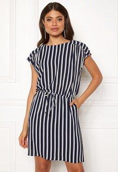 VERO MODA Sasha Bali Short Dress Navy Blazer/Stripe Bubbleroom.eu