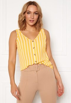 VERO MODA Sasha S/L Button Top AOP Banana Cream Bubbleroom.eu