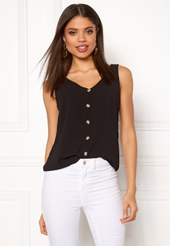 VERO MODA Sasha S/L Button Top Black Bubbleroom.eu