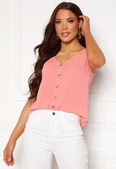 VERO MODA Sasha S/L Button Top Tea Rose Bubbleroom.eu