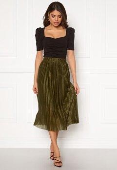 VERO MODA Seline Plisse Skirt Military Olive Bubbleroom.eu