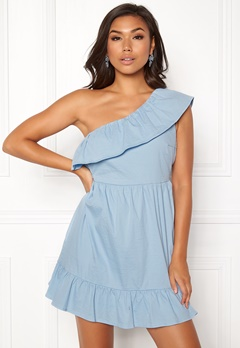 VERO MODA Sia One Shoulder Dress Cerulean Bubbleroom.eu