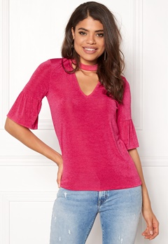 VERO MODA Stretchy Choker 2/4 Top Beetroot Purple Bubbleroom.eu
