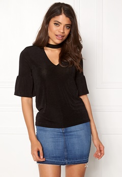 VERO MODA Stretchy Choker 2/4 Top Black Bubbleroom.eu