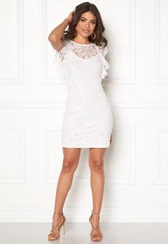 VERO MODA Thea Short Lace Dress Snow White Bubbleroom.eu