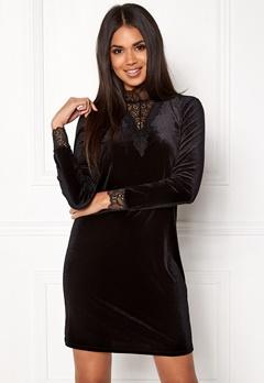 VERO MODA Viola Lace L/S Dress Black Bubbleroom.eu