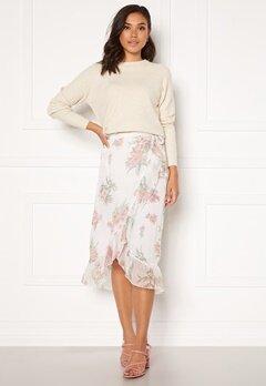 VERO MODA Wonda H/W Wrap Skirt Birch AOP Ophelia Ro Bubbleroom.eu