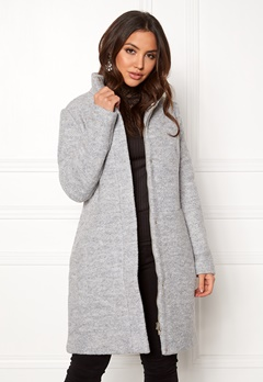 VILA Alanis Coat Light Grey Melange Bubbleroom.eu