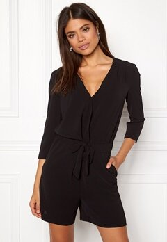 VILA Alure 3/4 Playsuit Black Bubbleroom.eu