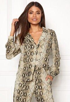 VILA Amella L/S Shirt Sandshell Bubbleroom.eu