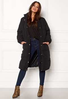 VILA Anabella Long Jacket Black Bubbleroom.eu