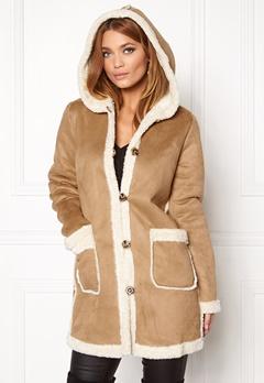 VILA Ava Coat Dusty Camel Bubbleroom.eu