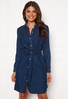 VILA Bista Denim Belt Dress Dark Blue Denim Bubbleroom.eu