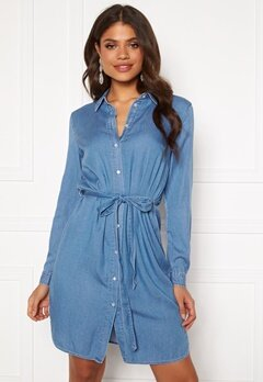 VILA Bista Denim Belt Dress Medium Blue Denim Bubbleroom.eu