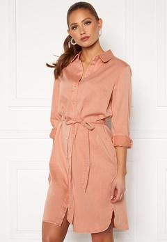VILA Bista Denim Belt Dress Misty Rose Bubbleroom.eu