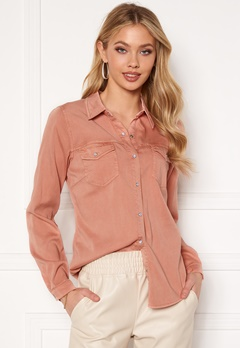 VILA Bista Denim Shirt Misty Rose Bubbleroom.eu