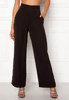 VILA Blami HW Button Pant Black Bubbleroom.eu