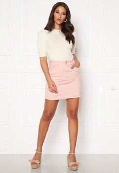 VILA Cassie Short Denim Skirt Pale Mauve Bubbleroom.eu