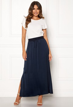 VILA Cava Maxi Skirt Total Eclipse Bubbleroom.eu