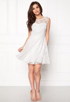 VILA Cayla s/l Dress Snow White Bubbleroom.eu