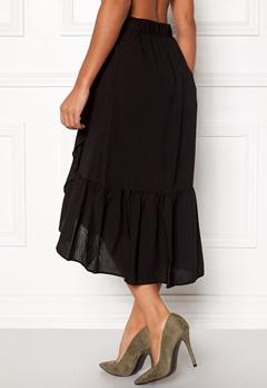 VILA Dama Flounce Midi Skirt Black Bubbleroom.eu