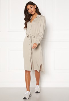 VILA Dania Belt L/S Shirt Dress Dove Bubbleroom.eu