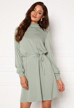 VILA Dania Smock L/S Dress Green Milieu Bubbleroom.eu