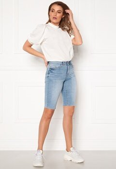 VILA Ekko RWSS Overknee Denim Shorts Light Blue Denim Bubbleroom.eu