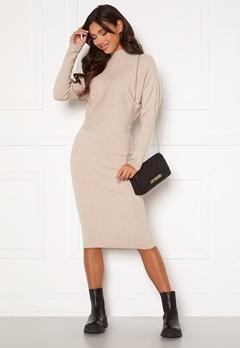 VILA Elasta 3/4 Sleeve Knit Dress Natural Melange Bubbleroom.eu