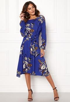 VILA Esto Sano L/S Midi Dress Clementis Blue Bubbleroom.eu