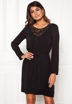VILA Everly L/S Dress Black Bubbleroom.eu