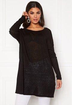 VILA Filak Knit L/S Oversize Tunic Black Bubbleroom.eu