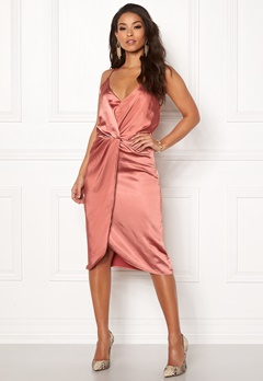 VILA Fsateny Midi Dress Dusty Cedar Bubbleroom.eu