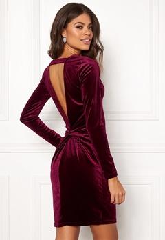 VILA Fulla L/S Open Back Dress Winetasting Bubbleroom.eu