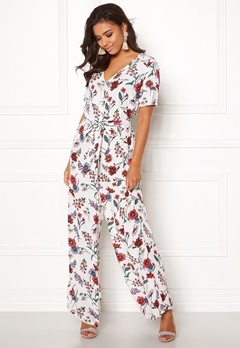 VILA Gardy S/S Jumpsuit Cloud Dancer Bubbleroom.eu