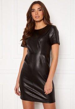 VILA Jaffi Coated S/S Dress Black Bubbleroom.eu
