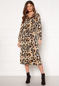 VILA Jolie L/S Shirt Dress Nomad AOP Leopard Bubbleroom.eu
