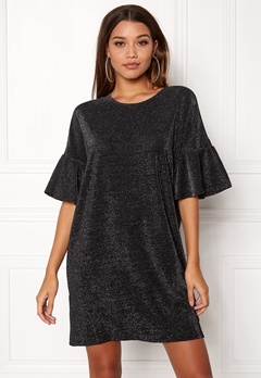 VILA Jomine T-Shirt Dress Black Bubbleroom.eu