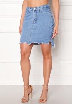 VILA Jules HW Slit Skirt Light Blue Denim Bubbleroom.eu