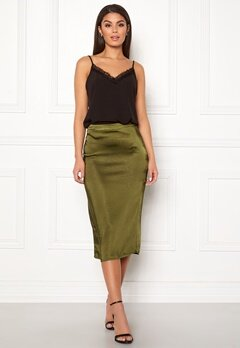 VILA Julie Skirt Dark Olive Bubbleroom.eu