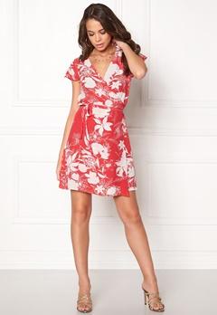VILA Karman Wrap Dress Flame Scarlet Bubbleroom.eu