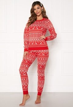 VILA Kosi Knit Leggings Racing red Bubbleroom.eu