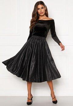 VILA Lena New Midi Skirt Black Bubbleroom.eu