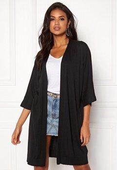 VILA Lesly 3/4 Sleeve Knit Cardigan Black Bubbleroom.eu