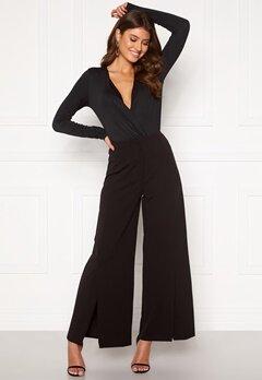 VILA Loane HW 7/8 Slit Pants Black Bubbleroom.eu