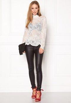 VILA Loras l/s Lace Top Pristine Bubbleroom.eu