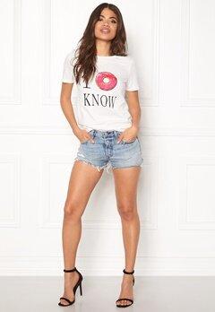 VILA Lovina New T-Shirt White Print I o Know Bubbleroom.eu
