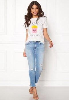 VILA Lovina New T-Shirt White Print Pommes Bubbleroom.eu
