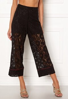 VILA Luas Cropped Lace Pants Black Bubbleroom.eu