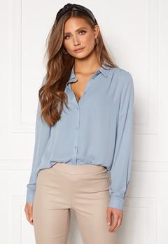 VILA Lucy Button L/S Shirt Ashley Blue Bubbleroom.eu